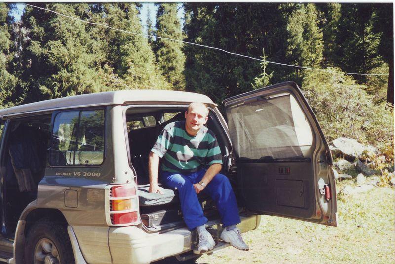 Стоянка в горах. Тургеньское ущелье. Parking in the mountains. Turgen gorge.