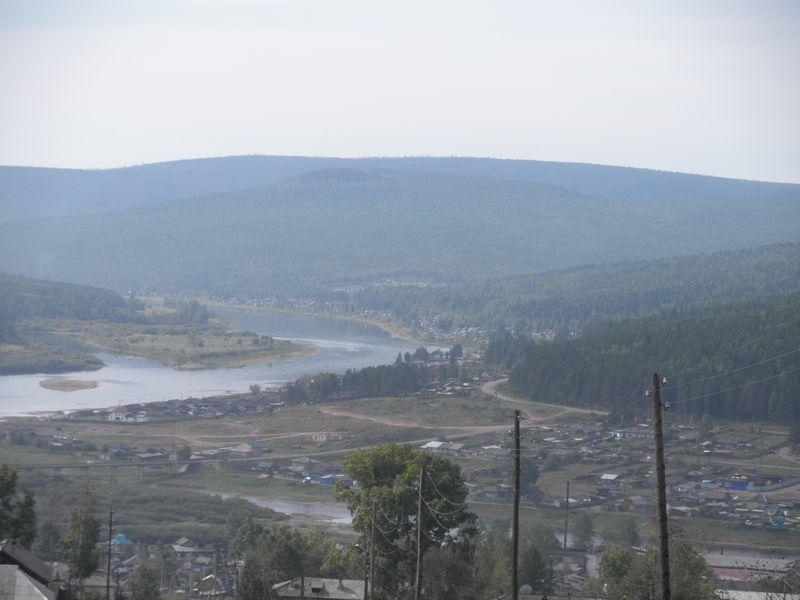 Усть-Кут. Слияние рек Лены и Куты.Ust-Kut. The confluence of the rivers Lena and Kuta.