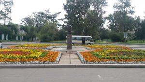 Иркутск, набережная реки Ангары. Бульвар Гагарина. Irkutsk, embankment of the Angara River. Gagarin Boulevard.