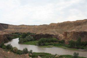 Река Чарын по дороге на озеро Кольсай. Кульджинский тракт. Charyn river on the way to Kulsay lake. Kuldzhinsky tract.
