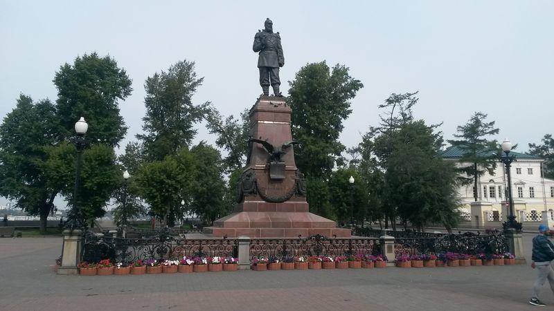 Иркутск. Памятник императору Александру III. Irkutsk. Monument to Emperor Alexander III.
