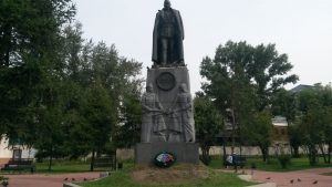 Иркутск. Памятник адмиралу Колчаку. Irkutsk. The monument to Admiral Kolchak.