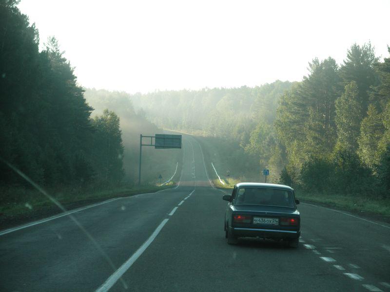 "Федеральная трасса ""Сибирь"". От Канска до Тайшета. Federal highway ""Siberia"". From Kansk to Taishet."