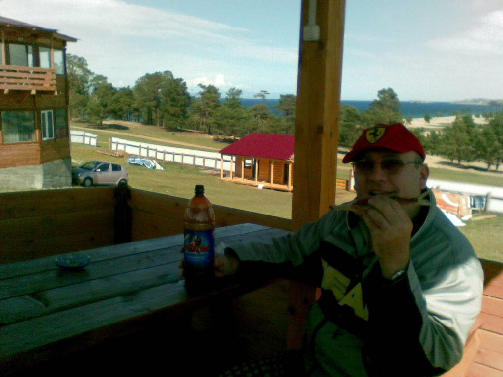 Байкал. Остров Ольхон. Омуль и пиво. Baikal. Olkhon Island. Omul and beer.