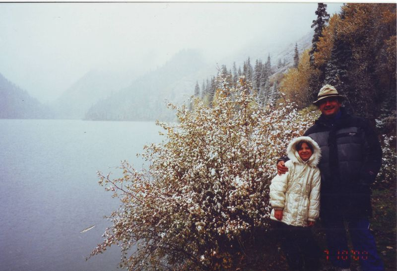 Поездки вокруг Алма-Аты. Озеро Кульсай. Trips around Alma-Ata. Lake Kulsai.