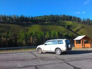 "Удобные места стоянок на трассе ""Амур"". Convenient parking places on the ""Amur"" highway."
