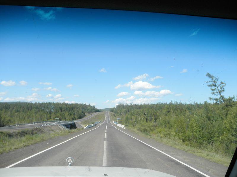 Дорога Тулун - Братск. Road Tulun - Bratsk.