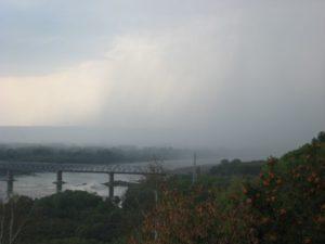 Россия. Уфа. Река Белая. Гроза над рекой. Russia. Ufa. White River. Thunderstorm over the river.