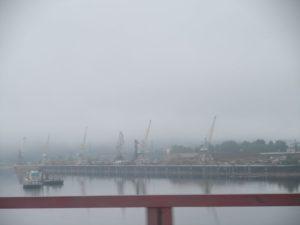 Усть-Кут. Река Лена. Речной порт. Ust-Kut. Lena river. River port.