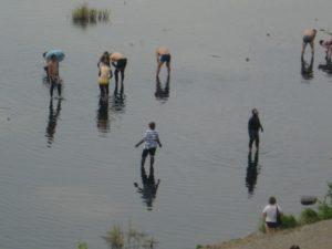Башкирия. Посёлок Красноусольский. Грязелечение. Bashkortostan. The settlement Krasnousolsky. Mud treatment.