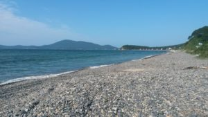 Автопутешествие на Дальний Восток. Утро на пляже. Autotravel to the Far East. Morning on the beach.
