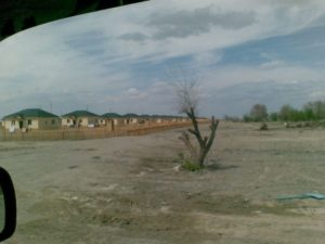 Кызылагаш. Новые дома после наводнения. Kyzylagash. New houses after the flood.