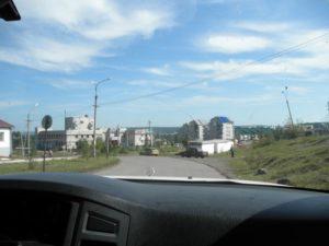 Дорога на Северный Байкал. Посёлок Магистральный. The road to North Baikal. The village Magistralny.