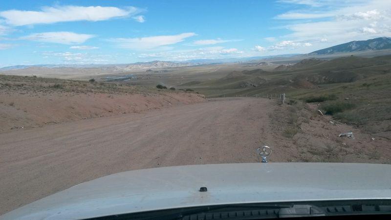 Монголия. Дорога к городу Мурэн. Mongolia. The road to the city of Mourin.