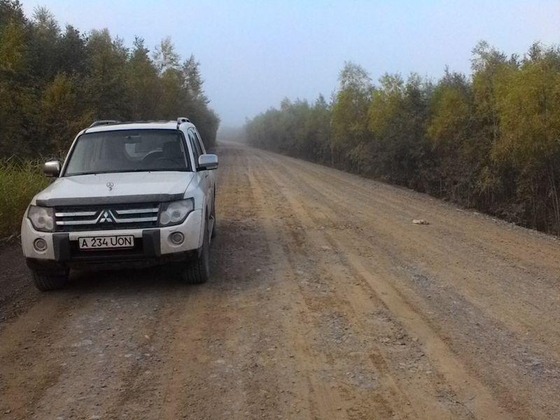 MMC Pajero автопутешествия Селихино дорога к Амуру