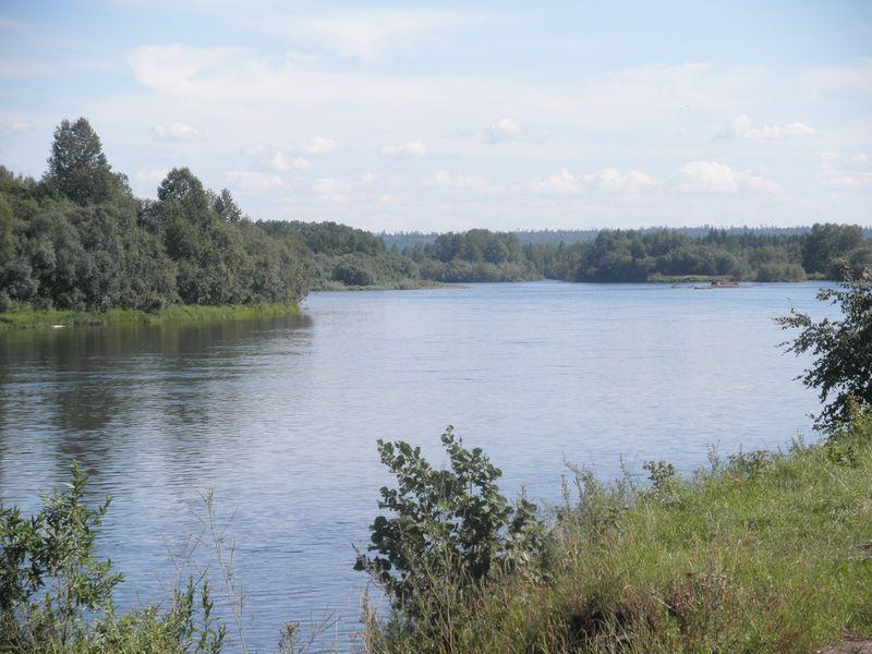 Байкало-Амурская магистраль. Река Киренга. The Baikal-Amur Mainline. The Kirenga River.