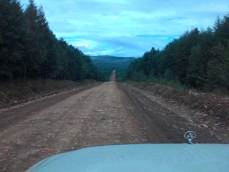 Де-Кастри дорога автопутешествия MMC Pajero