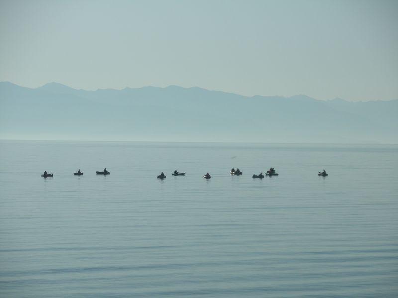 Рыбалка на Северном Байкале. Fishing on the North Baikal.