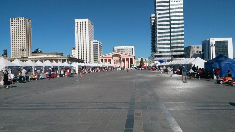 Монголия. Улан-Батор. Школьный базар.Mongolia. Ulaanbaatar. School market.