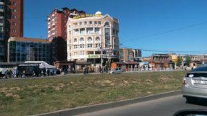 Монголия. Улан-Батор. Проспект Мира. Mongolia. Ulaanbaatar. Peace Avenue.