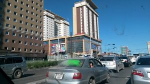 Монголия. Улан-Батор. Проспект Мира. Mongolia. Ulaanbaatar. Avenue of Peace.