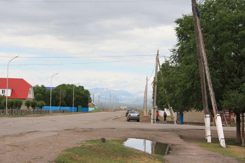 Казахстан. Село Кеген. Kazakhstan. The village of Kegen.