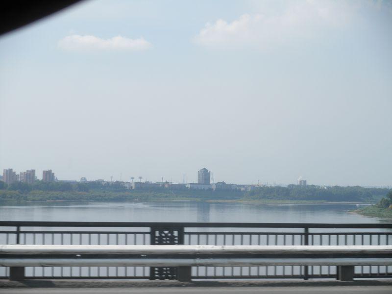 Россия. Кемерово. Мост через реку Томь.