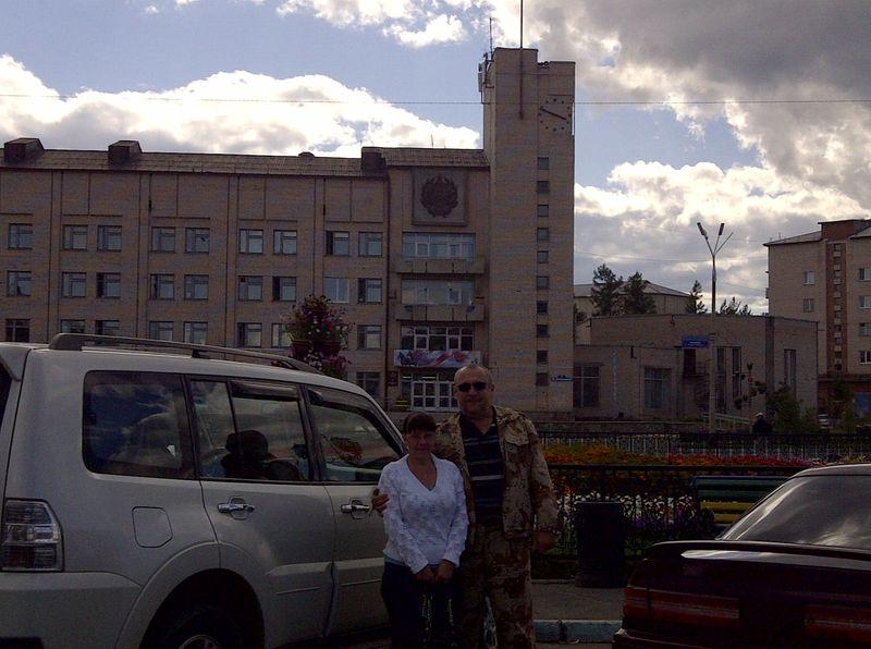 Северобайкальск. Центр города. Severobaikalsk. City center.