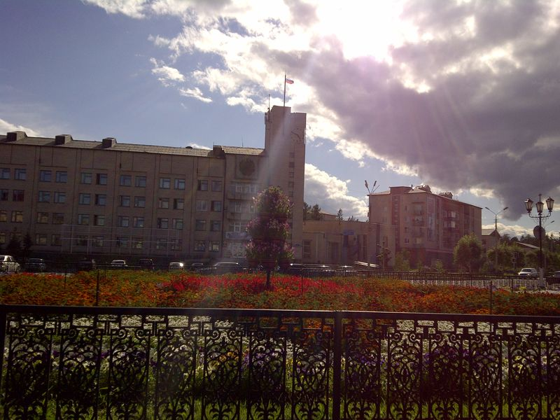 Северобайкальск. Центр города. Severobaikalsk. City center.