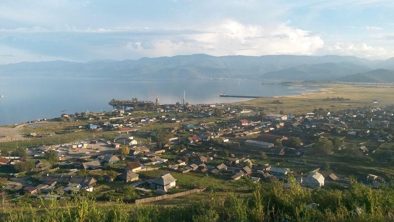 "Россия. Трасса ""Байкал"". Посёлок Култук. Russia. The Baikal highway. Settlement Kultuk."