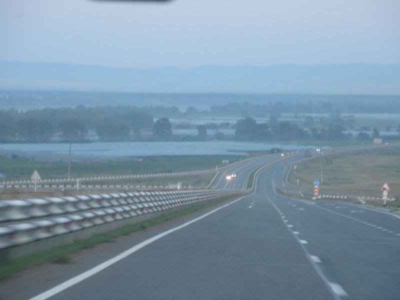 Красноярск. Объездная дорога. Krasnoyarsk. Bypass road.