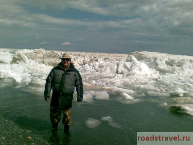 The ice is coming back. Lake Alakol. 2010.