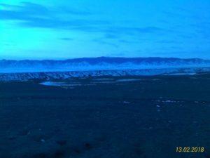 Здесь начинается дорога на озеро Кольсай. The road to Lake Kolsai starts here.