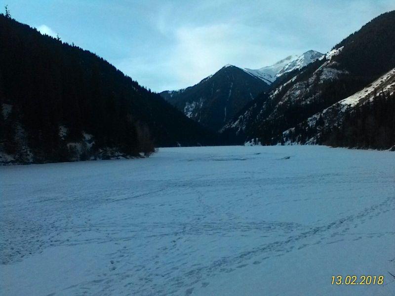 Озеро Кольсай зимой. Lake Kolsai in winter