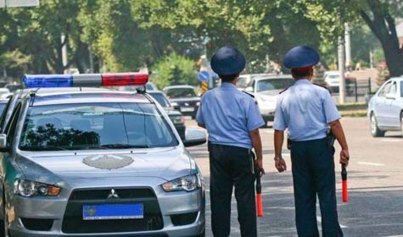 Дорожная полиция Казахстана. Traffic police in Kazakhstan.