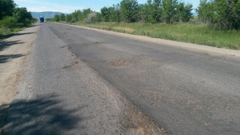 Состояние дороги Алма-Ата - Усть-Каменогорск. The condition of the road Almaty-Ust-Kamenogorsk.