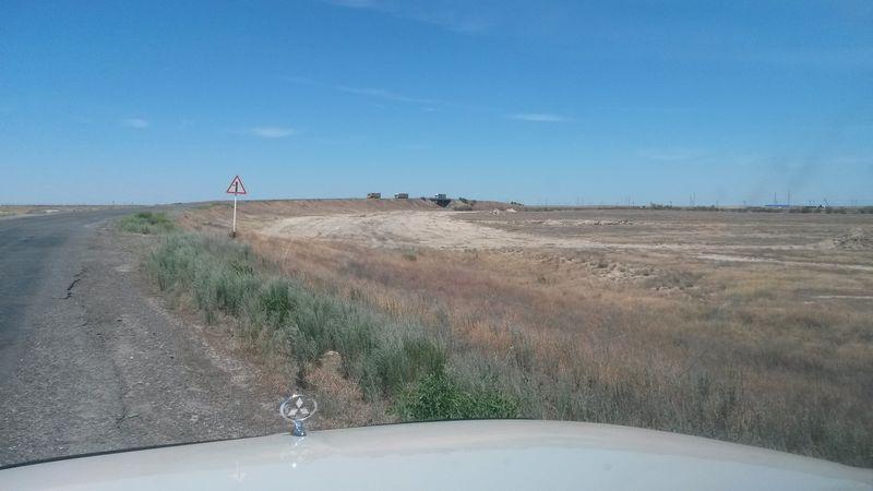 Дорога Учарал - Аягоз. The road Ucharal - Ayagoz.