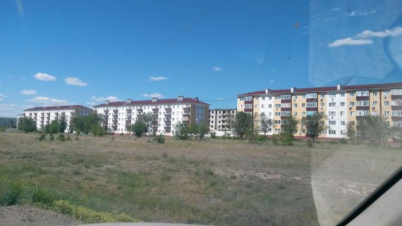 Дорога Алматы - Усть-Каменогорск. Город Аягоз. The road Almaty - Ust-Kamenogorsk. The city of Ayagoz.