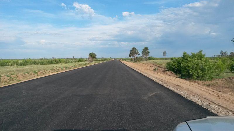 Ремонт дороги между городами Семей и Павлодар. Repair of the road between Semey and Pavlodar cities.