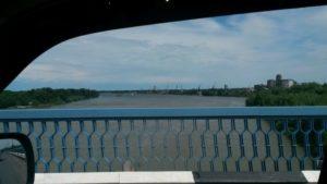 Павлодар. Мост через Иртыш. Pavlodar. Bridge over the Irtysh.