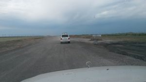 Строительство магистрали Павлодар - Астана. Construction of the highway Pavlodar - Astana.