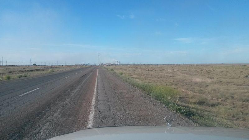 Дорога Караганда - Балхаш. The road Karaganda - Balkhash.