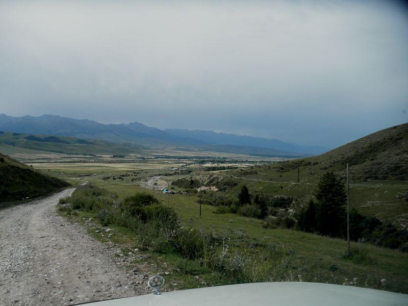 Киргизия. Перевал Санташ. Kyrgyzstan. Pass Santash.