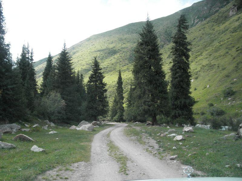 Киргизия. Долина реки Каркара. Kyrgyzstan. The valley of the river Karkara.