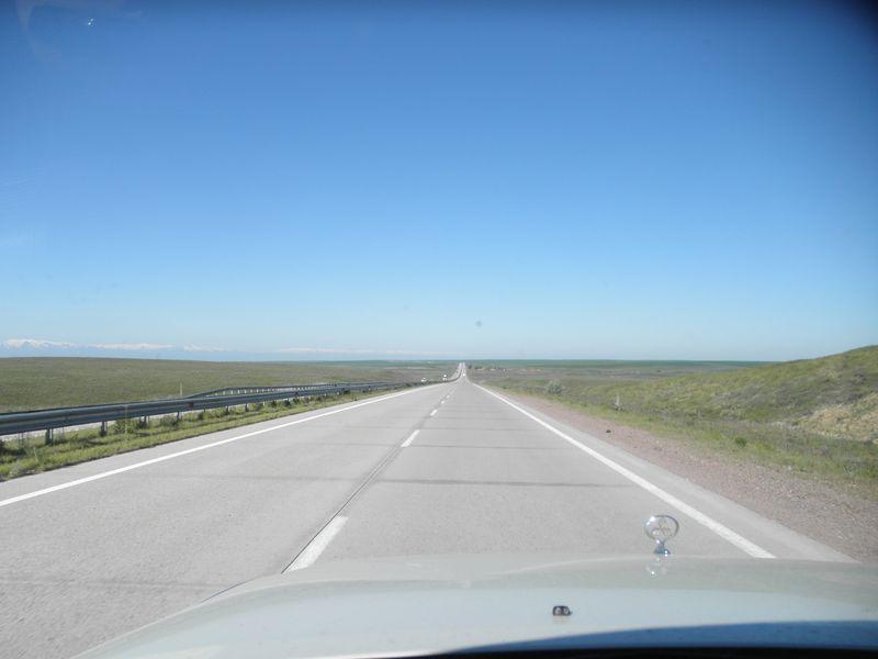 "Транспортный коридор ""Западный Китай - Западная Европа"". Дорога Алма-Ата - Тараз. Transport corridor ""Western China - Western Europe"". The road Alma-Ata - Taraz."
