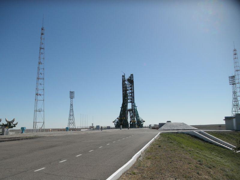 "Космодром Байконур. Площадка № 2. ""Гагаринский старт"". Baikonur Cosmodrome. Platform number 2. ""Gagarin start."""