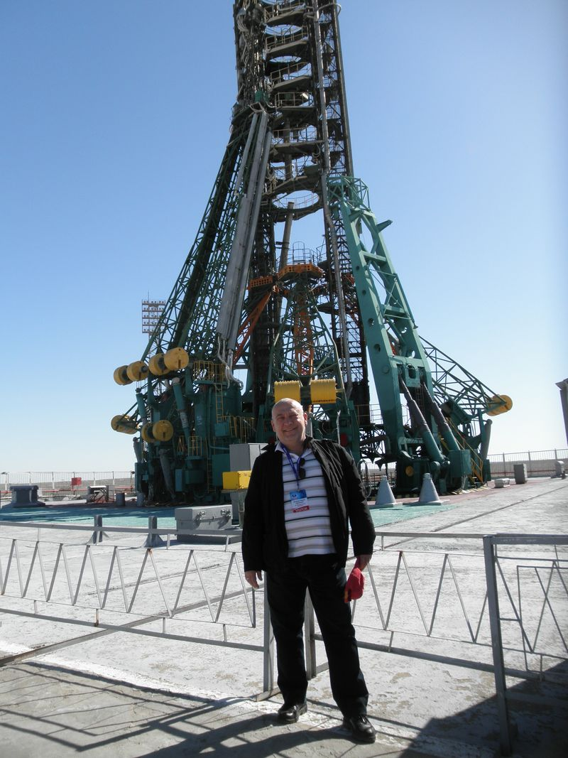 "Космодром Байконур. Площадка № 1. ""Гагаринский старт"".  Baikonur Cosmodrome. Platform number 1. ""Gagarin start."""