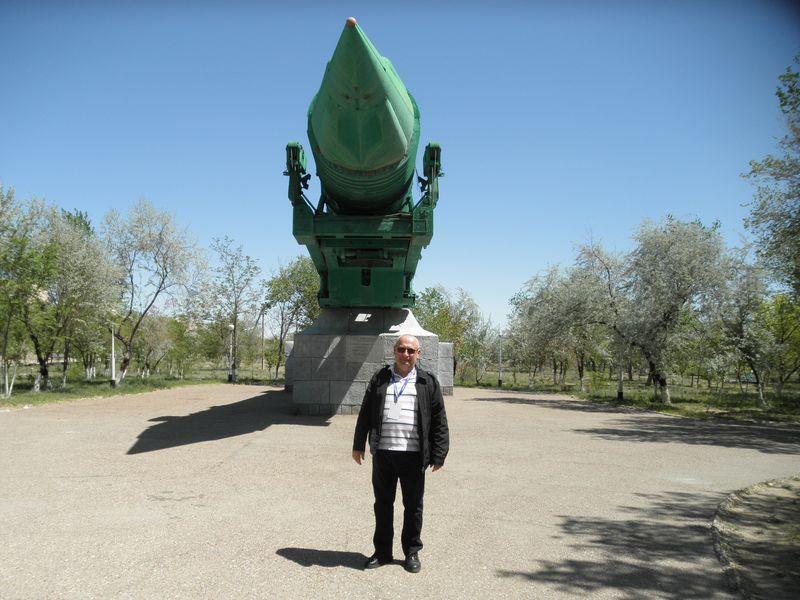 Казахстан. Город Байконур. Межконтинентальная баллистическая ракета. Kazakhstan. City Baikonur. Intercontinental ballistic missile.