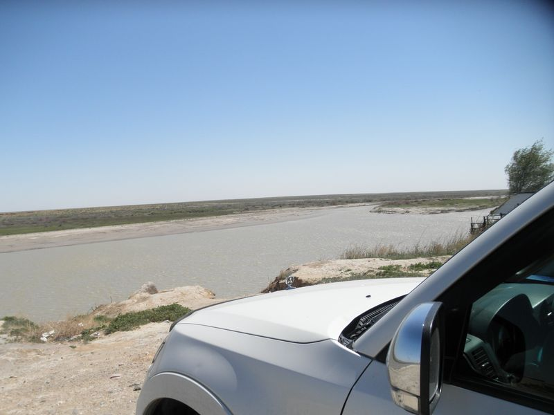 Казахстан. Город Байконур. Река Сырдарья. Kazakhstan. Baikonur city. Syrdarya river.