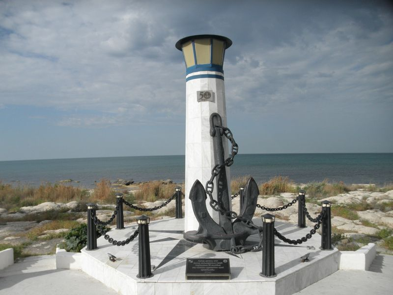 Актау. Набережная Каспийского моря. Приморский бульвар. Aktau. Quay of the Caspian Sea. Seaside Boulevard.